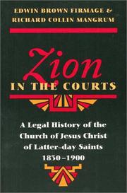 Zion in the courts by Edwin Brown Firmage