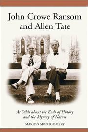 John Crowe Ransom and Allen Tate by Marion Montgomery