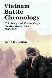 Vietnam battle chronology by David Burns Sigler