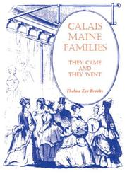 Calais, Maine families by Thelma Eye Brooks