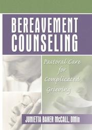 Bereavement counseling by Junietta Baker McCall
