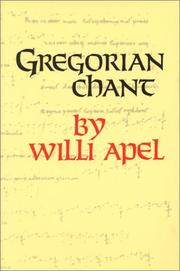 Gregorian chant by Willi Apel