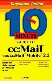 10 Minute Guide to Cc: Mail With Cc PDF