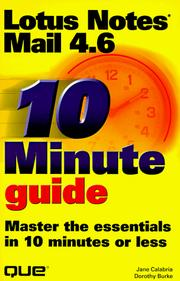 10 minute guide to Lotus Notes Mail 4.6 PDF