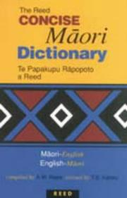 Concise Maori dictionary by Alexander Wyclif Reed