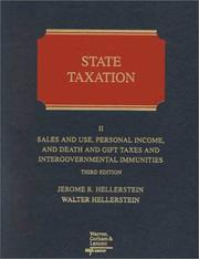 State taxation by Jerome R. Hellerstein