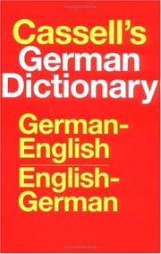 Cassell's German-English, English-German dictionary = by Harold T. Betteridge