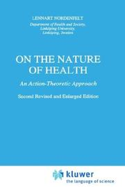 On the nature of health by Lennart Nordenfelt