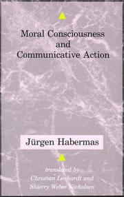 Cover of: Moral consciousness and communicative action by Jrgen Habermas