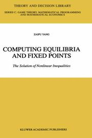 Computing equilibria and fixed points PDF