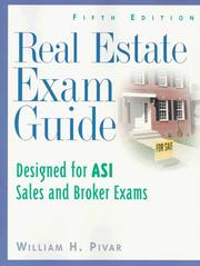 Real estate exam guide by William H. Pivar