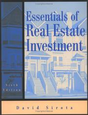Essentials of real estate investment by David Sirota