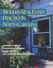 Modern real estate practice in North Carolina by Fillmore W. Galaty