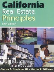 California real estate principles by Charles O. Stapleton