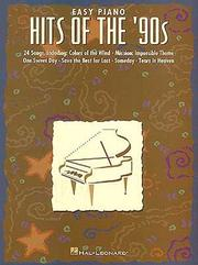 Easy Piano Hits Of The 90's PDF