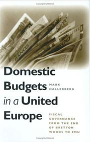 Domestic Budgets in a United Europe PDF