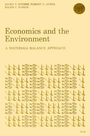 Economics and the environment by Allen V. Kneese