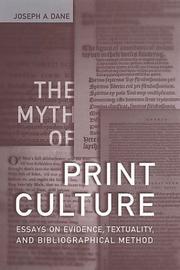 The myth of print culture PDF