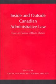 Inside and Outside Canadian Administrative Law PDF