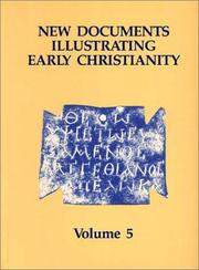New documents illustrating early Christianity by G. H. R. Horsley