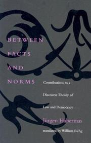 Between Facts and Norms by Jürgen Habermas