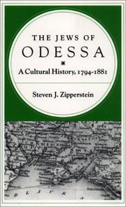 The Jews of Odessa by Steven J. Zipperstein
