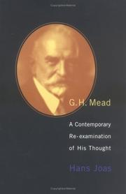 G. H. Mead by Hans Joas