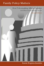 Family Policy Matters PDF