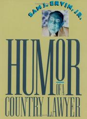 Cover of: Humor of a Country Lawyer by Sam J. Ervin