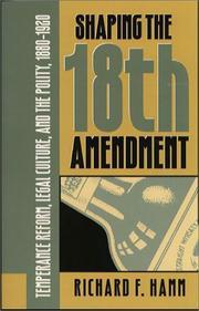Shaping the Eighteenth Amendment PDF