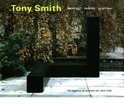 Tony Smith by Robert Storr