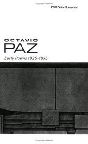 Early poems, 1935-1955 by Octavio Paz