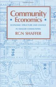 Community economics by Ron Shaffer