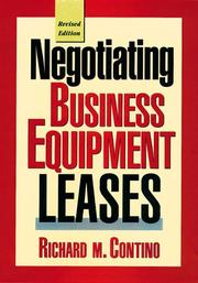 Negotiating business equipment leases PDF