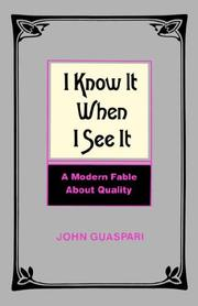 Cover of: I Know It When I See It by John Guaspari