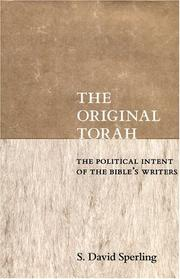 The original Torah by S. David Sperling
