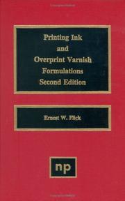 Printing ink and overprint varnish formulations PDF