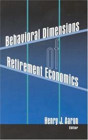 Behavioral Dimensions of Retirement Economics PDF