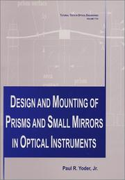 Design and mounting of prisms and small mirrors in optical instruments PDF