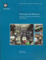 Vehicular air pollution by Bekir Onursal
