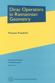Dirac operators in Riemannian geometry by Friedrich, Thomas