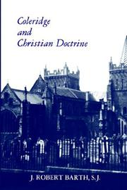 Coleridge and Christian doctrine by J. Robert Barth