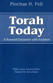 Torah today by Pinchas Peli
