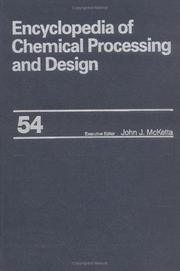 Encyclopedia of Chemical Processing and Design PDF