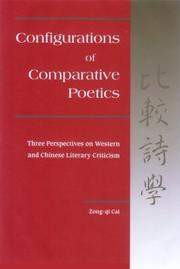 Configurations of comparative poetics by Zong-qi Cai
