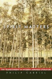 Spirit matters by  Philip Gabriel