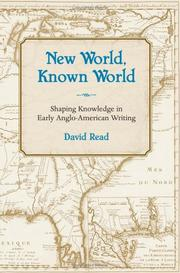 New world, known world by Read, David