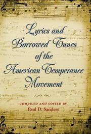 Lyrics And Borrowed Tunes of the American Temperance Movement PDF