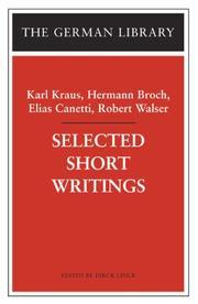 Selected Short Writings (German Library) PDF