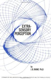 Extra-sensory perception by J. B. Rhine